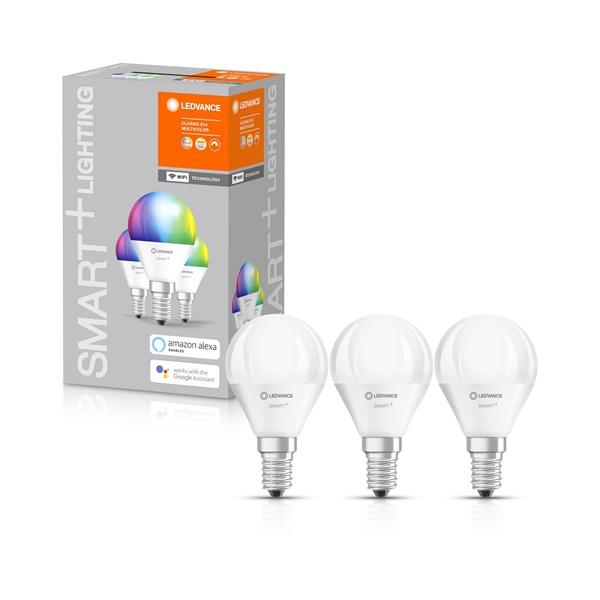 Ledvance Smart+ Wifi vezérlésű 5W RGBW E14 szabályozható kisgömb alakú LED fényforrás - 1