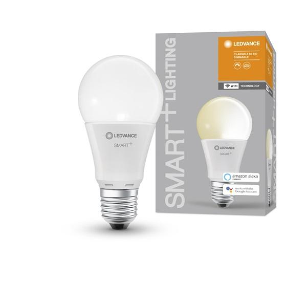 Ledvance Smart+ Wifi vezérlésű 9W 2700K E27 dimmelhető körte LED fényforrás - 1