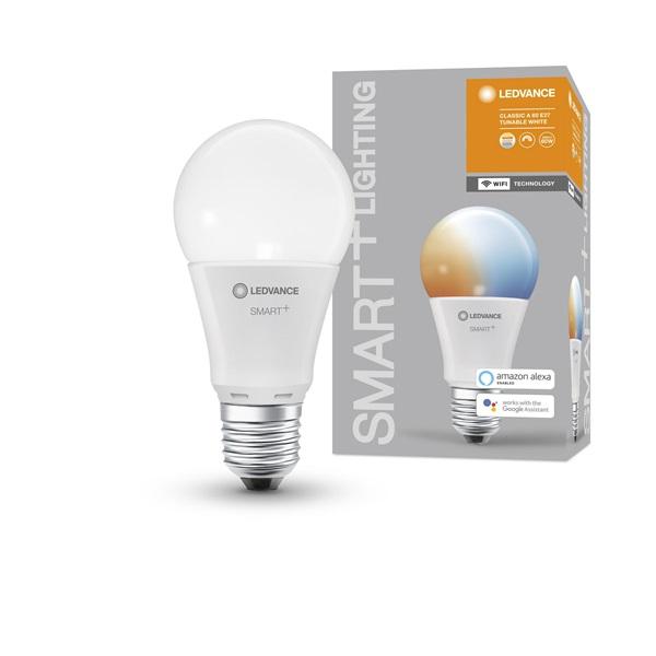 Ledvance Smart+ Wifi vezérlésű 9W állítható színhőmérsékletű, E27 dimmelhető körte LED fényforrás - 1