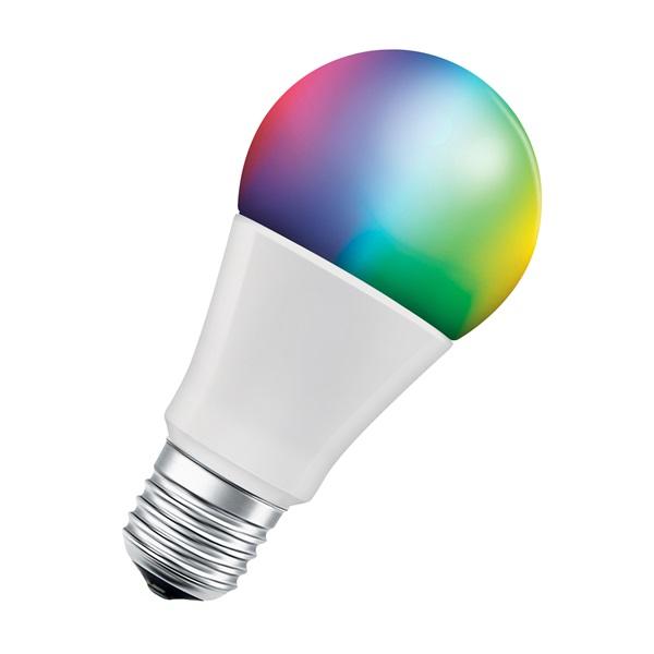 Ledvance Smart+ Wifi vezérlésű 9W RGBW E27 dimmelhető körte LED fényforrás - 1