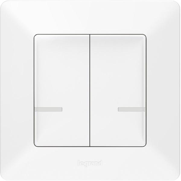 Legrand 752187 Valena Life Netatmo fehér kettős pólusú vezeték nélküli kapcsoló - 1