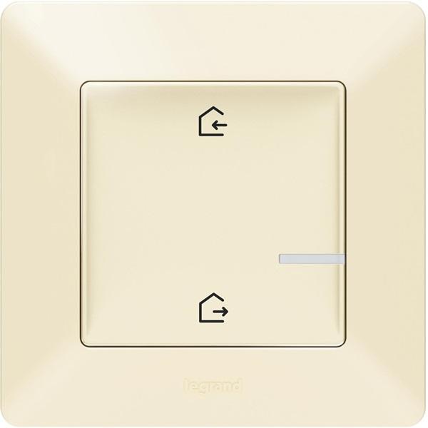 Legrand Valena Life Netatmo Intelligens Vezeték nélküli főkapcsoló - Érkezés/Távozás funkcióval elefántcsont - 1