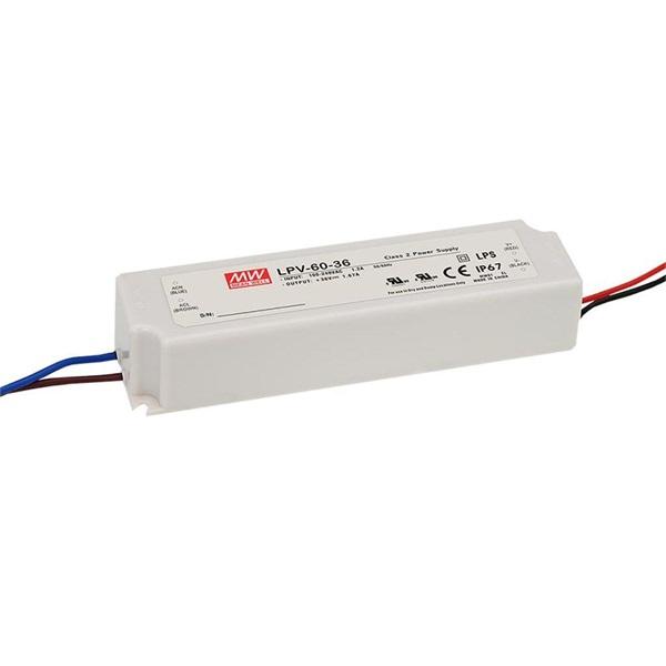 Mean Well LPV-60-24 IP67 24V 60W tápegység - 1