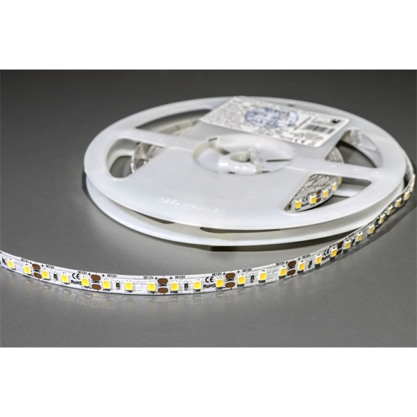 MW HQS-2835 5M 120LED/m 1020 lm/m 9,6W 12V meleg fehér LED szalag - 1