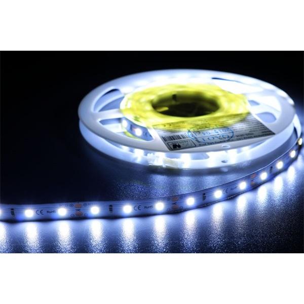 MW HQS-2835 5M 60LED/m 1260 lm/m 12W 24V hideg fehér LED szalag - 1