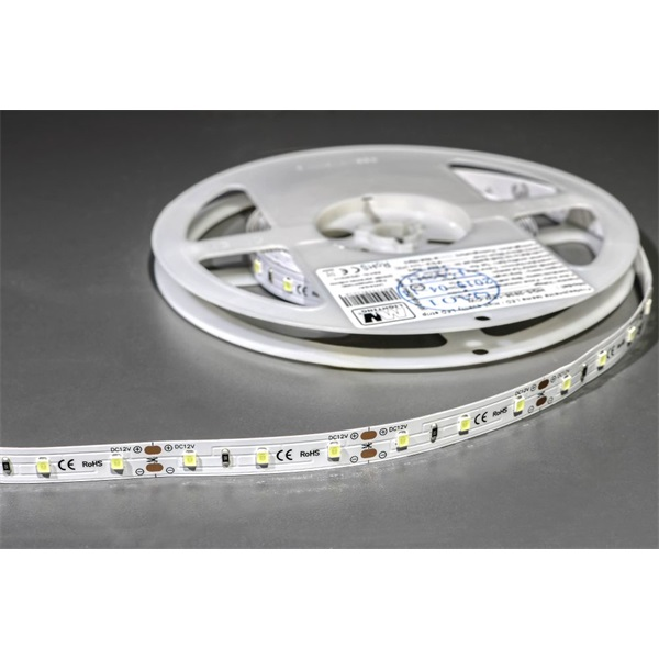MW LC-2835 5M 60LED/m 640 lm/m 12W 12V hideg fehér LED szalag - 1