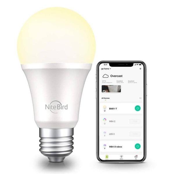 NITEBIRD WB2 Smart WI-FI-s fehér LED izzó E27 / 230V / 8W - 1
