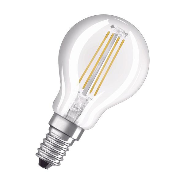 Osram Base átlátszó üveg búra/4W/470lm/2700K/E14 LED kisgömb izzó 2 db - 1