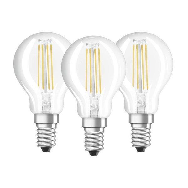 Osram Base átlátszó üveg búra/4W/470lm/2700K/E14 LED kisgömb izzó 3 db - 1