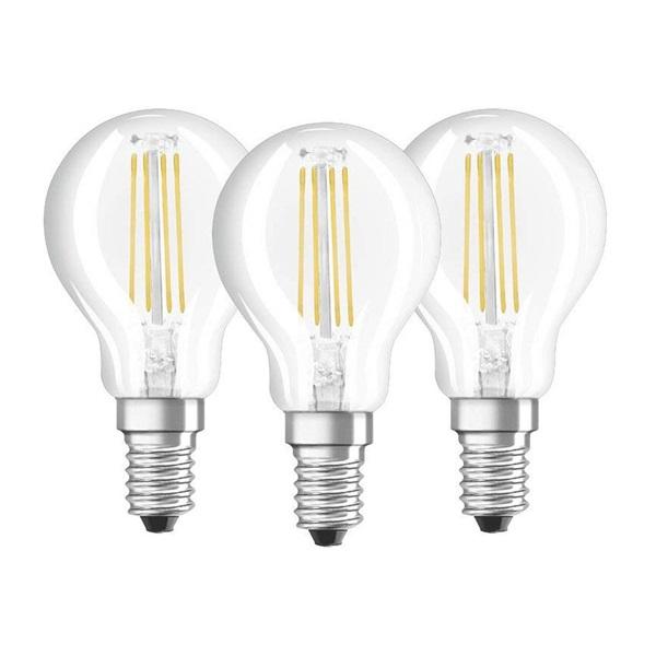 Osram Base átlátszó üveg búra/4W/470lm/4000K/E14 LED kisgömb izzó 3 db - 1