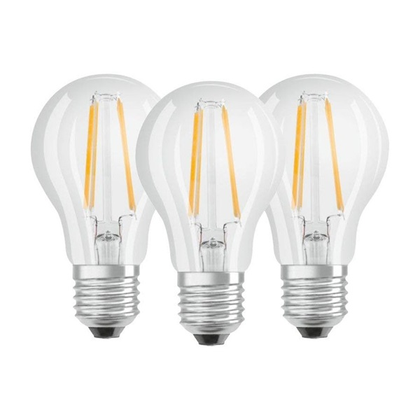 Osram Base átlátszó üveg búra/6,5W/806lm/4000K/E27/dobozos LED körte izzó 3 db - 1
