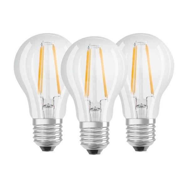 Osram Base átlátszó üveg búra/7W/806lm/2700K/E27/dobozos LED körte izzó 3 db - 1