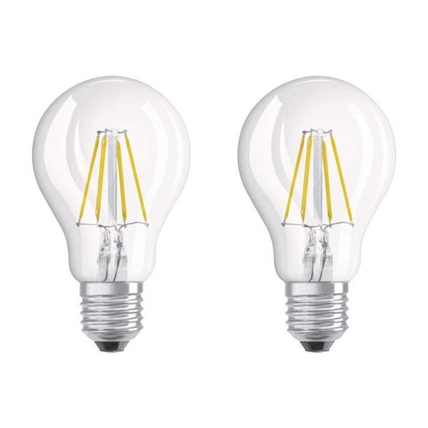 Osram Base átlátszó üveg búra/7W/806lm/2700K/E27 LED körte izzó 2 db - 1