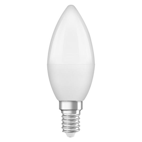 Osram Base matt műanyag búra/5W/470lm/2700K/E14/dobozos LED gyertya izzó 3 db - 1