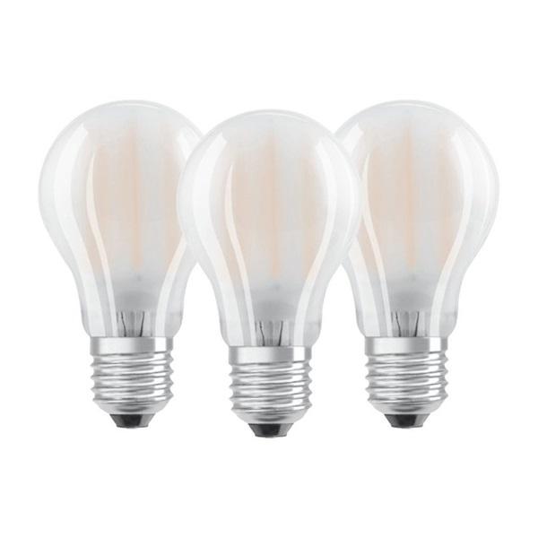 Osram Base matt üveg búra/7W/806lm/2700K/E27 LED körte izzó 3 db - 1