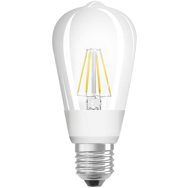 Osram Star+ GLOWdim átlátszó üveg búra/7W/806lm/2700K/E27 LED Edison körte izzó - 1