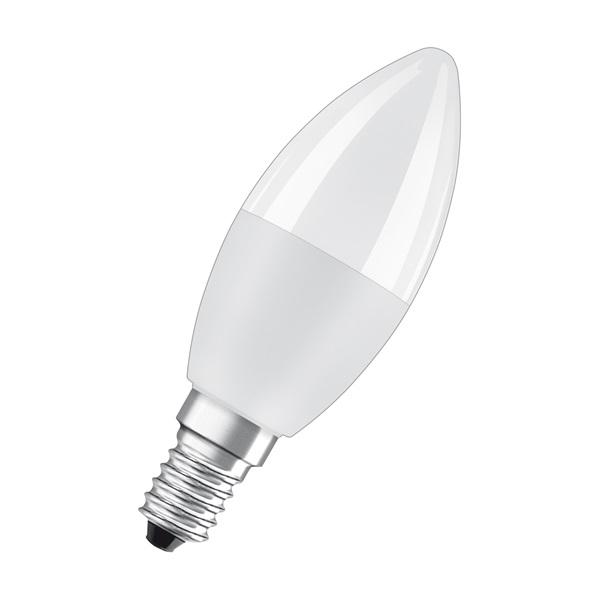 Osram Star+ RGBW/matt búra/5,5W/470lm/2700K/E14 távirányítható LED gyertya izzó - 1