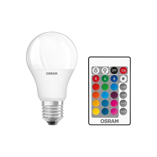 Osram Star+ RGBW/matt búra/9W/806lm/2700K/E27 távirányítható LED körte izzó - 1