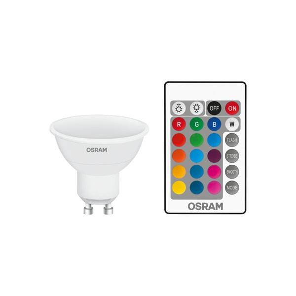 Osram Star+ RGBW/műanyag ház 4,5W/250lm/2700K/GU10 távirányítható LED PAR16 spot fényforrás - 1