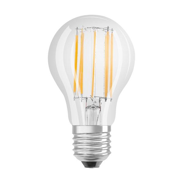 Osram Star átlátszó üveg búra/11W/1521lm/2700K/E27 LED körte izzó - 1