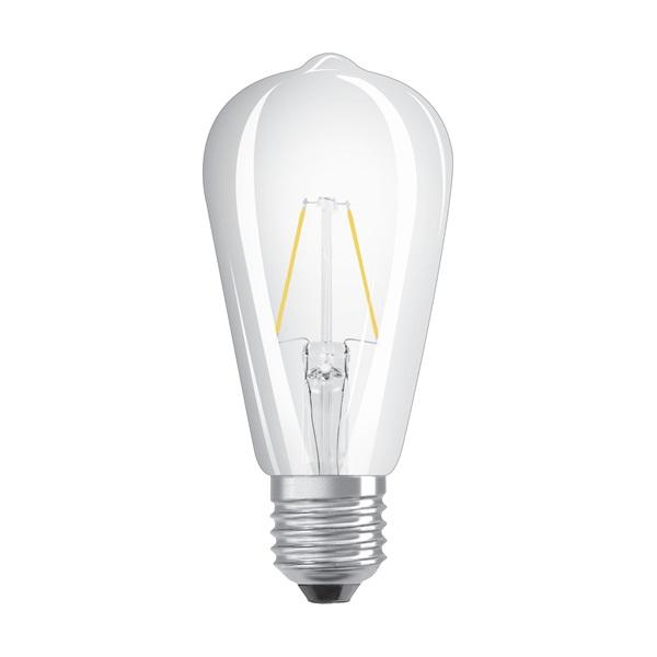 Osram Star átlátszó üveg búra/2,5W/250lm/2700K/E27 LED Edison körte izzó - 1