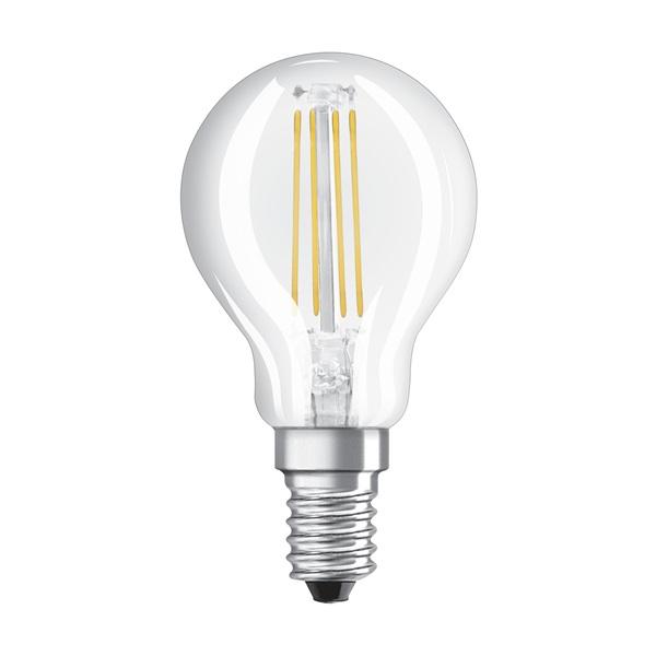 Osram Star átlátszó üveg búra/4W/470lm/2700K/E14 LED kisgömb izzó - 1