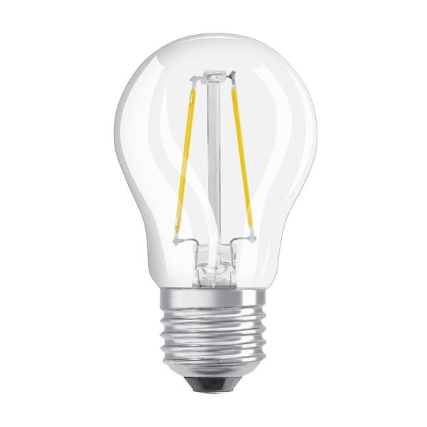 Osram Star átlátszó üveg búra/4W/470lm/2700K/E27 LED kisgömb izzó - 1