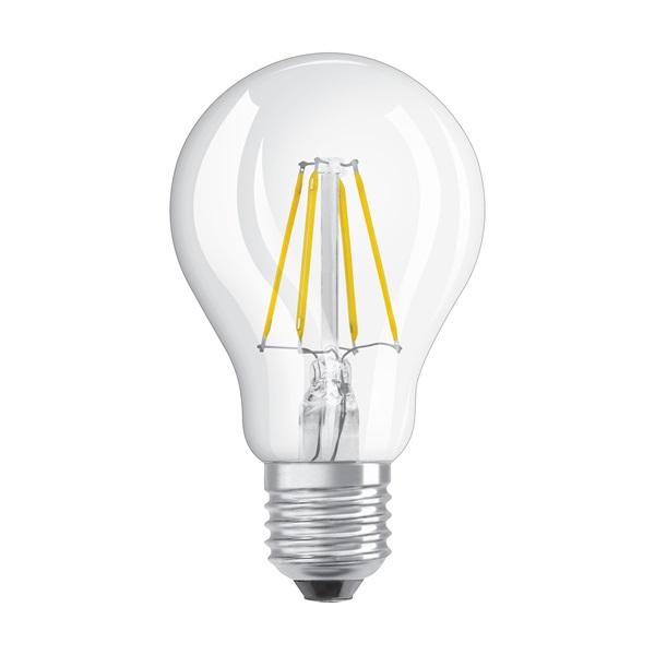 Osram Star átlátszó üveg búra/4W/470lm/2700K/E27 LED körte izzó - 1