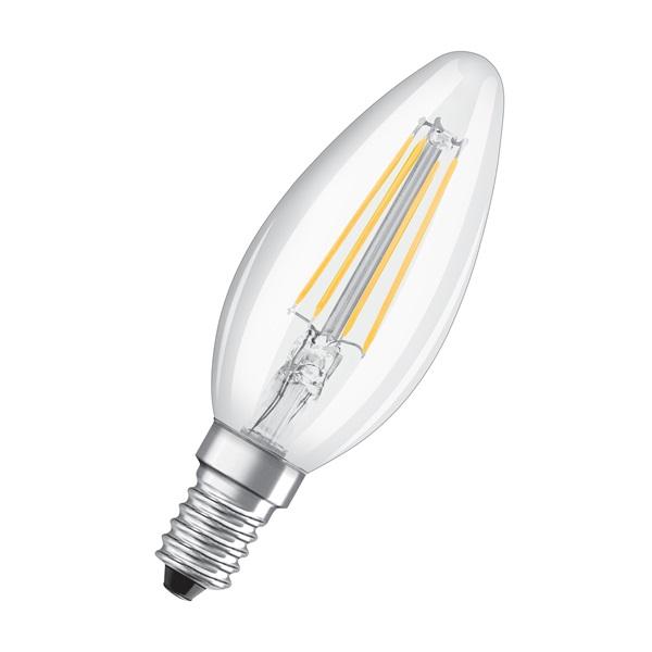 Osram Star átlátszó üveg búra/4W/470lm/4000K/E14 LED gyertya izzó - 1