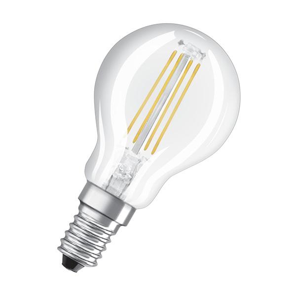 Osram Star átlátszó üveg búra/4W/470lm/4000K/E14 LED kisgömb izzó - 1