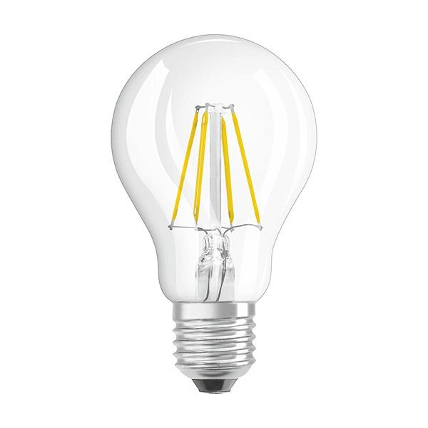 Osram Star átlátszó üveg búra/4W/470lm/4000K/E27 LED körte izzó - 1