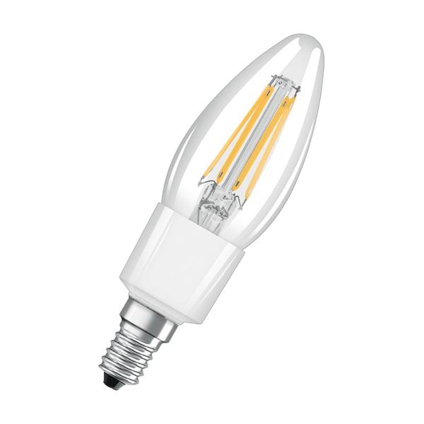 Osram Star átlátszó üveg búra/6,5W/806lm/2700K/E14 LED gyertya izzó - 1