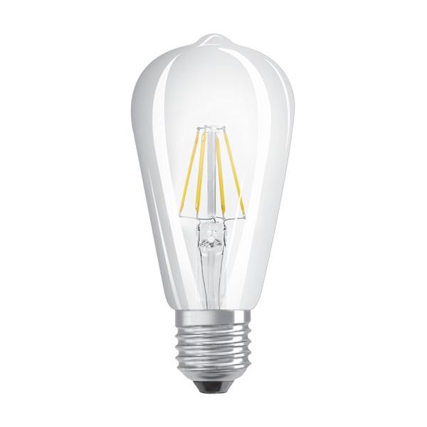 Osram Star átlátszó üveg búra/7W/806lm/2700K/E27 LED Edison körte izzó - 1