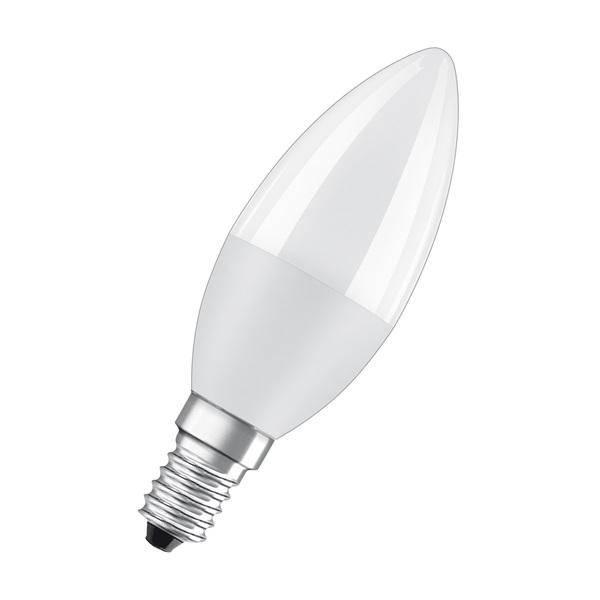 Osram Star matt búra/8W/806lm/2700K/E14 LED gyertya izzó - 1