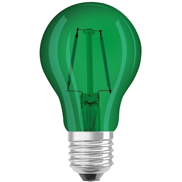 Osram Star üveg búra/2,5W/45lm/7500K/E27/zöld LED körte izzó - 1
