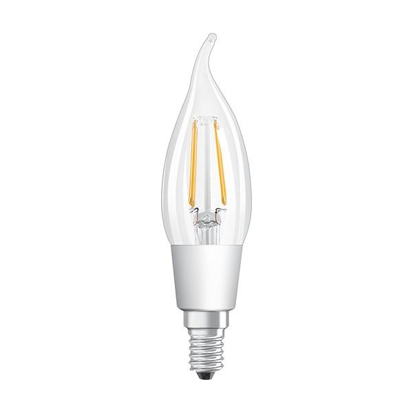 Osram Superstar átlátszó üveg búra/4,5W/470lm/2700K/E14/119mm dimmelhető LED gyertya izzó - 1