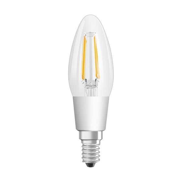 Osram Superstar átlátszó üveg búra/4,5W/827 E14/97mm dimmelhető LED gyertya izzó - 1