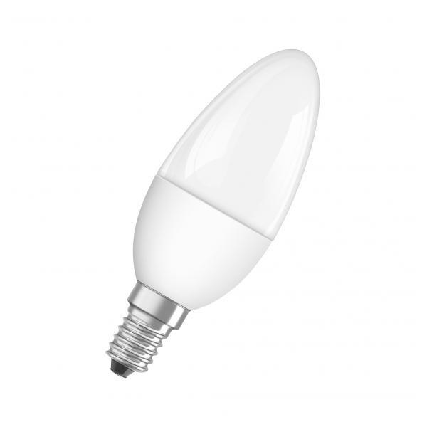 Osram Superstar matt búra/5W/470lm/2700K/E14 dimmelhető LED gyertya fényforrás - 1