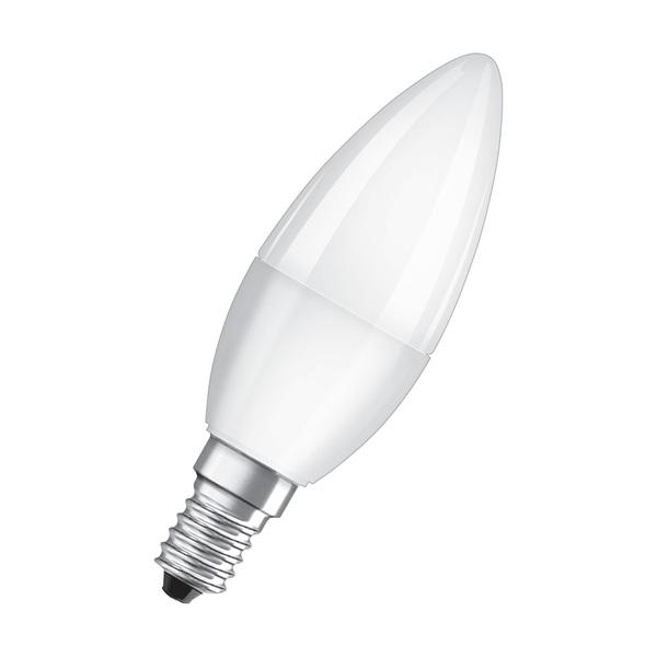 Osram Value matt búra/5,5W/470lm/6500K/E14 LED gyertya izzó - 1