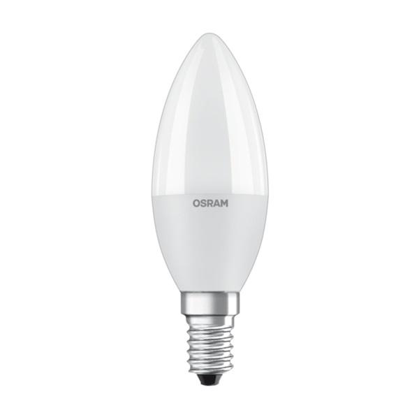 Osram Value matt búra/7W/806lm/2700K/E14 LED gyertya izzó - 1