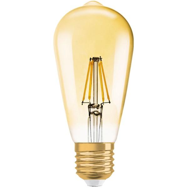 Osram Vintage átlátszó üveg búra/2,5W/225lm/2500K/E27 LED Edison körte izzó - 1