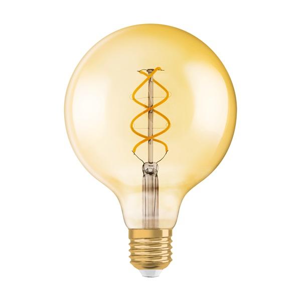 Osram Vintage átlátszó üveg búra/4,5W/250lm/2000K/E27 dimmelhető LED gömb izzó - 1