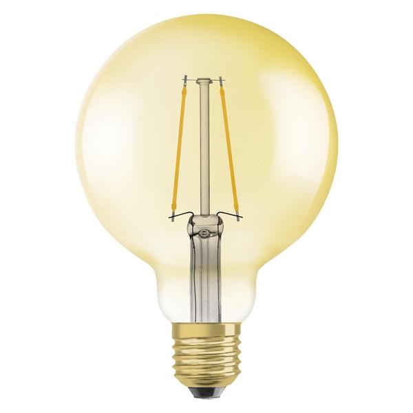 Osram Vintage átlátszó üveg búra/4,5W/420lm/2500K/E27/140mm LED gömb izzó - 1