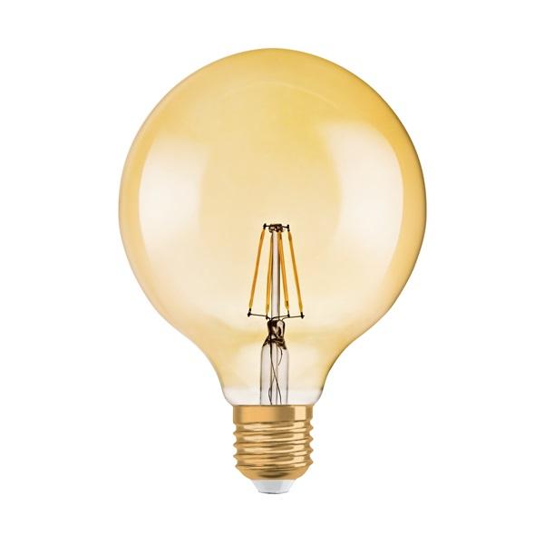 Osram Vintage átlátszó üveg búra/4,5W/420lm/2500K/E27/178mm LED gömb izzó - 1