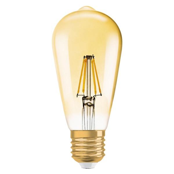 Osram Vintage átlátszó üveg búra/4W/420lm/2500K/E27 LED Edison körte izzó - 1