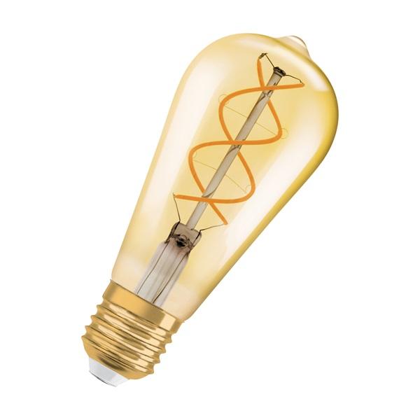 Osram Vintage átlátszó üveg búra/5W/250lm/2000K/E27 LED Edison körte izzó - 1