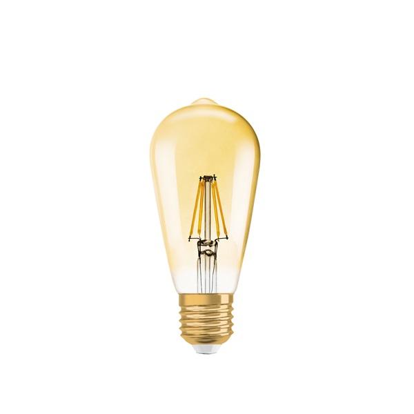 Osram Vintage átlátszó üveg búra/7W/725lm/2500K/E27dimmelhető LED Edison körte izzó - 1