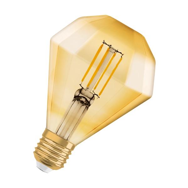 Osram Vintage LED gyémánt forma/átlátszó üveg búra/4,5W/470lm/2500K/E27 LED gyémánt forma izzó - 1