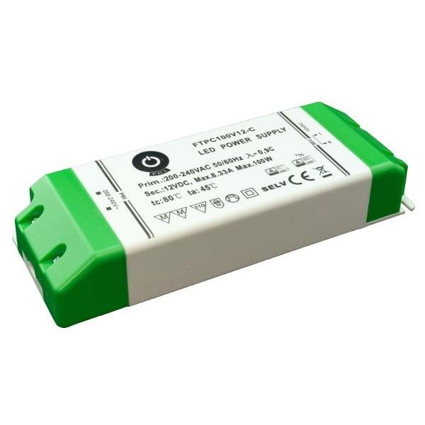 POS POWER FTPC100V12-C 12V/8.33A 100W IP20 LED tápegység - 1