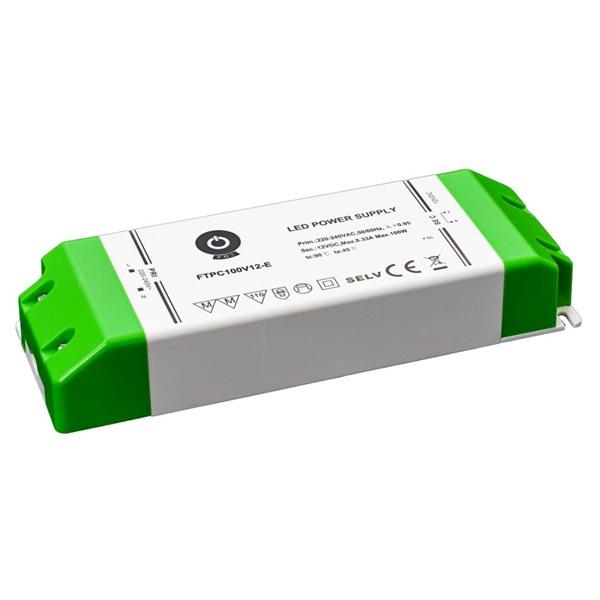 POS POWER FTPC100V12-E 12V/8.33A 100W IP20 gazdaságos LED tápegység - 1